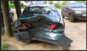 Автомобиль, в котором был поврежден багажник